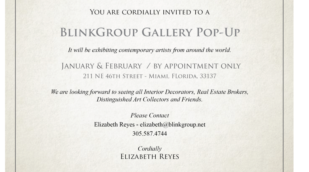 You are Cordially Invited to a BlinkGroup Gallery PoP – Up